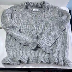 Chickwish  Gray Sweater V-Neck  EUC